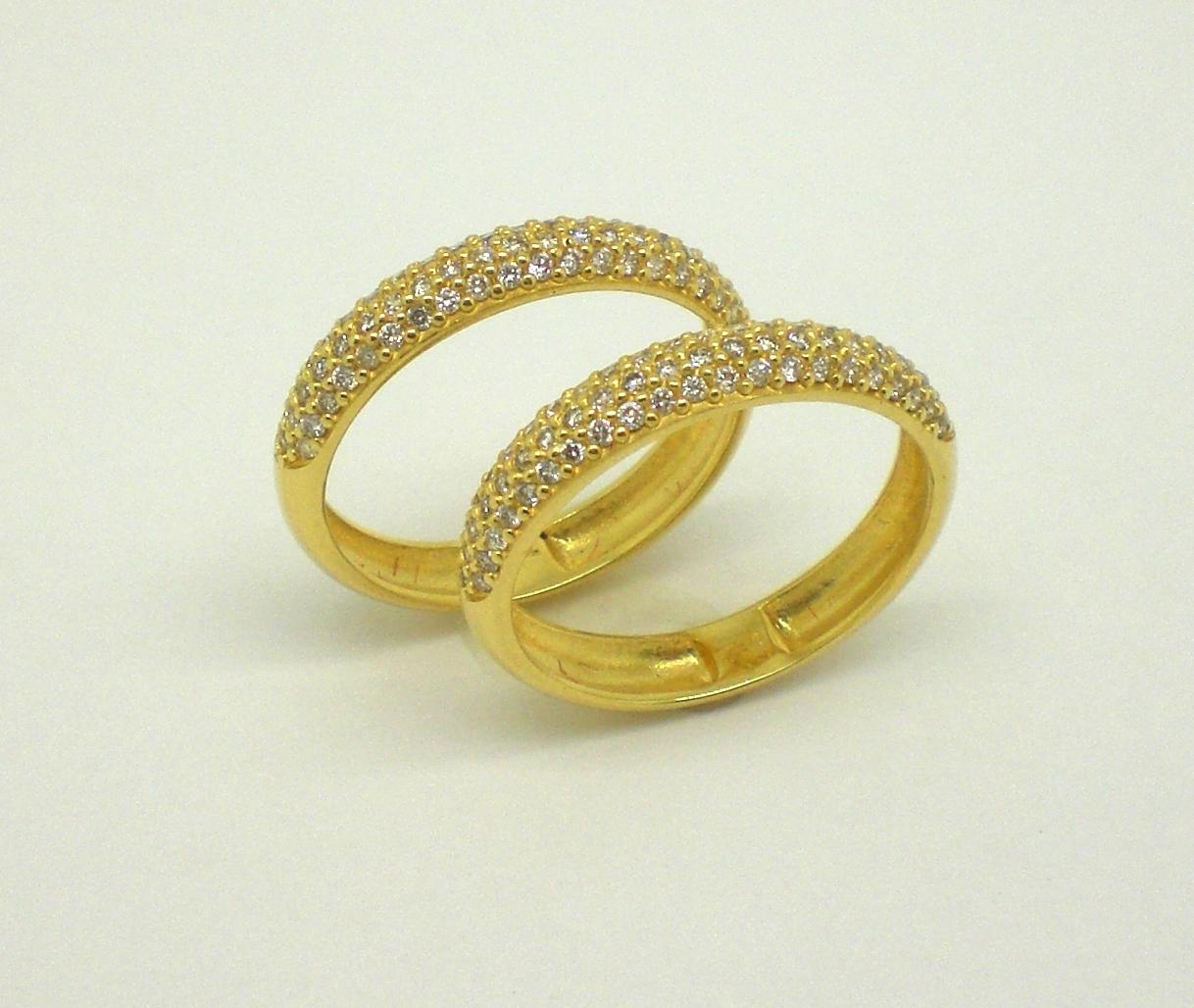 Aparadores de Aliança Diamantes em Ouro Amarelo 18k 750 Marcio Joalheiros  Marcio Joalheiros. por favor, ser visto a partir do ângulo que realmente  inspira. 6cfd3cf6b2