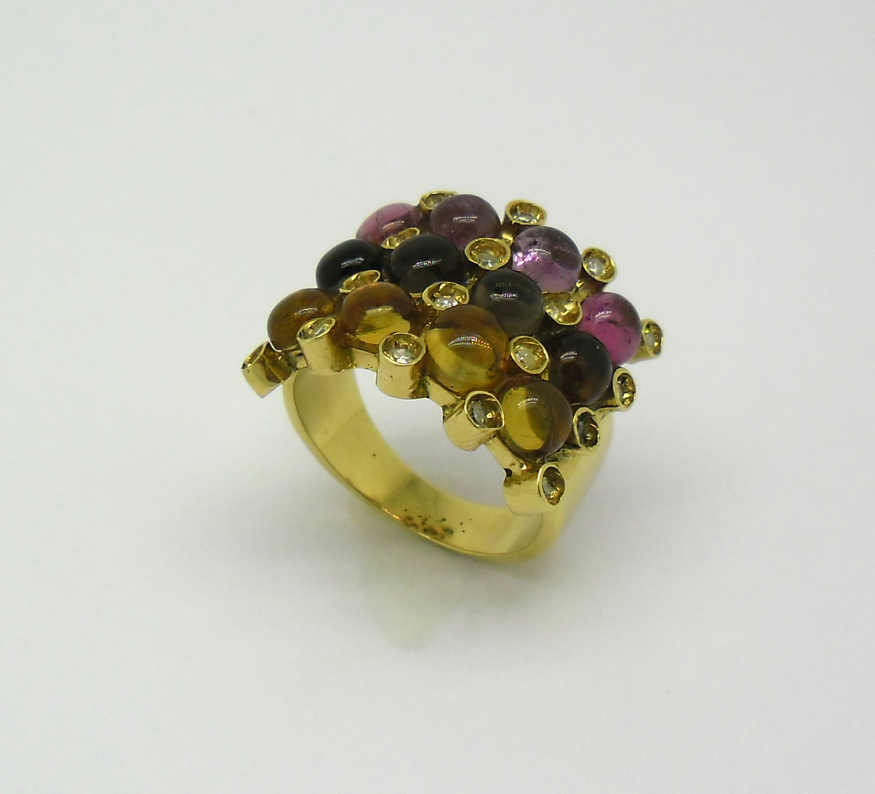 brasileiras brilhantes ouro amarelo 18 k 750 anel pedras brasileiras ...