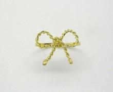 Anel de Falange Laço Torcido Ouro Amarelo 18k 750 (3)