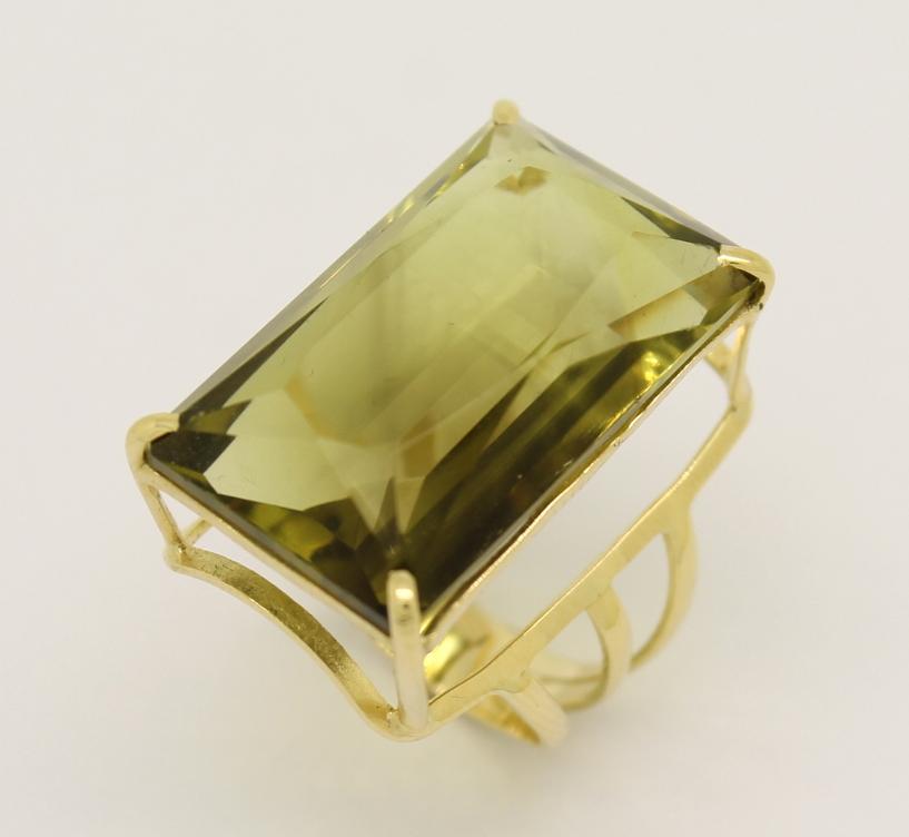 d5a9dd7cb28 Anel Green Gold Retangular Ouro Amarelo 18k 750 - Marcio Joalheiros ...
