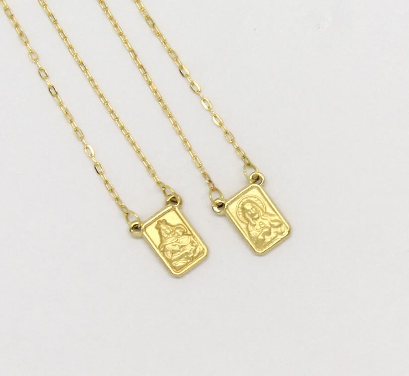 f620cee9b17f5 Escapulário Pequeno Ouro Amarelo 18k 750 - Marcio Joalheiros ...