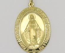 Pingente Nossa Senhora da Medalha Milagrosa Ouro Amarelo 18k 750 (7)