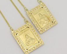 Escapulário Zircônio Ouro Amarelo 18k 750 (1)