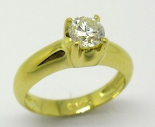 Anel Solitário 1ct Diamante Ouro Amarelo 18k 750 (4)