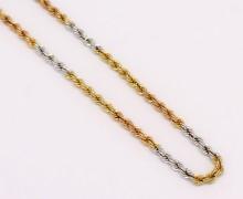 Corrente 3 ouros 45cm 18k 750 (2)