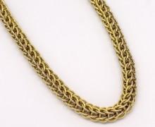 Corrente Trançada 50 cm Fecho Naval Ouro Amarelo 18k 750  (3)