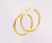 Brinco de Argola Raiado Ouro Amarelo 18k 750 (3)