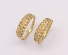 Aparador de Aliança Diamantes Ouro Amarelo 18k 750 (2)