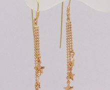 Brinco Estrelas Cadentes Ouro Vermelho e Ouro Amarelo 18k750 (3)