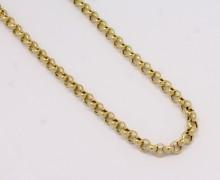 Corrente Elo Português 60 cm Ouro Amarelo 18k 750 (2)