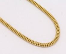 Corrente Feminina Bolinhas Ouro Amarelo 18k 750 (1)
