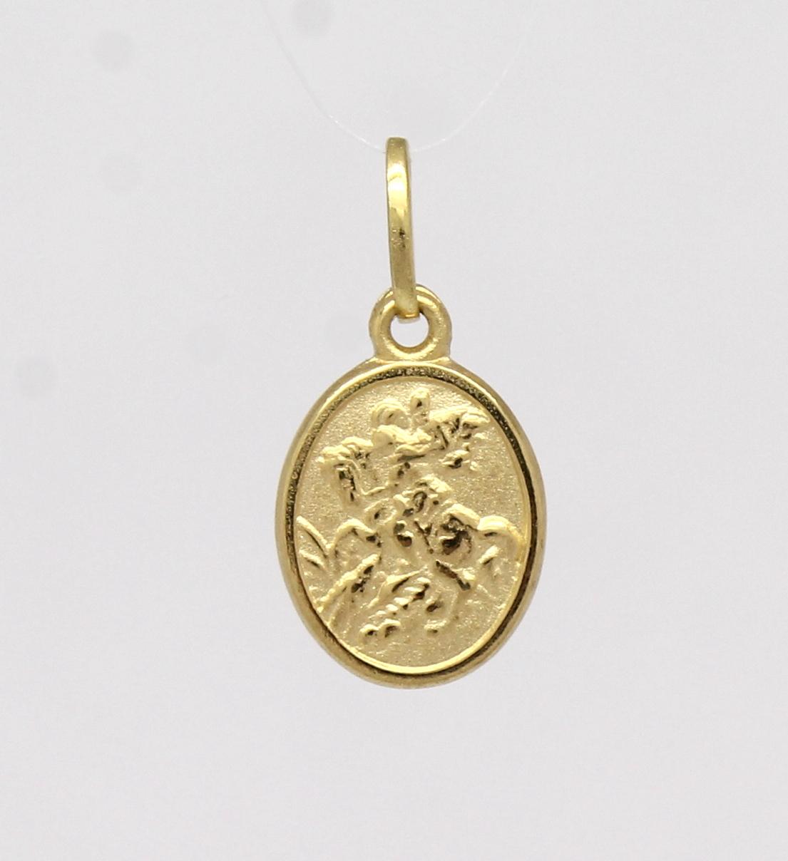 ccca0c39a16d5 Pingente São Jorge Pequeno Ouro Amarelo 18k 750 - Marcio Joalheiros ...