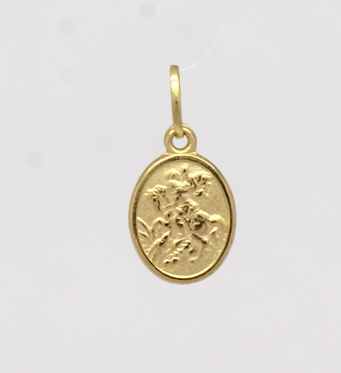 Pingente São Jorge Pequeno Ouro Amarelo 18k 750 - Marcio Joalheiros ... 98fb15a63e