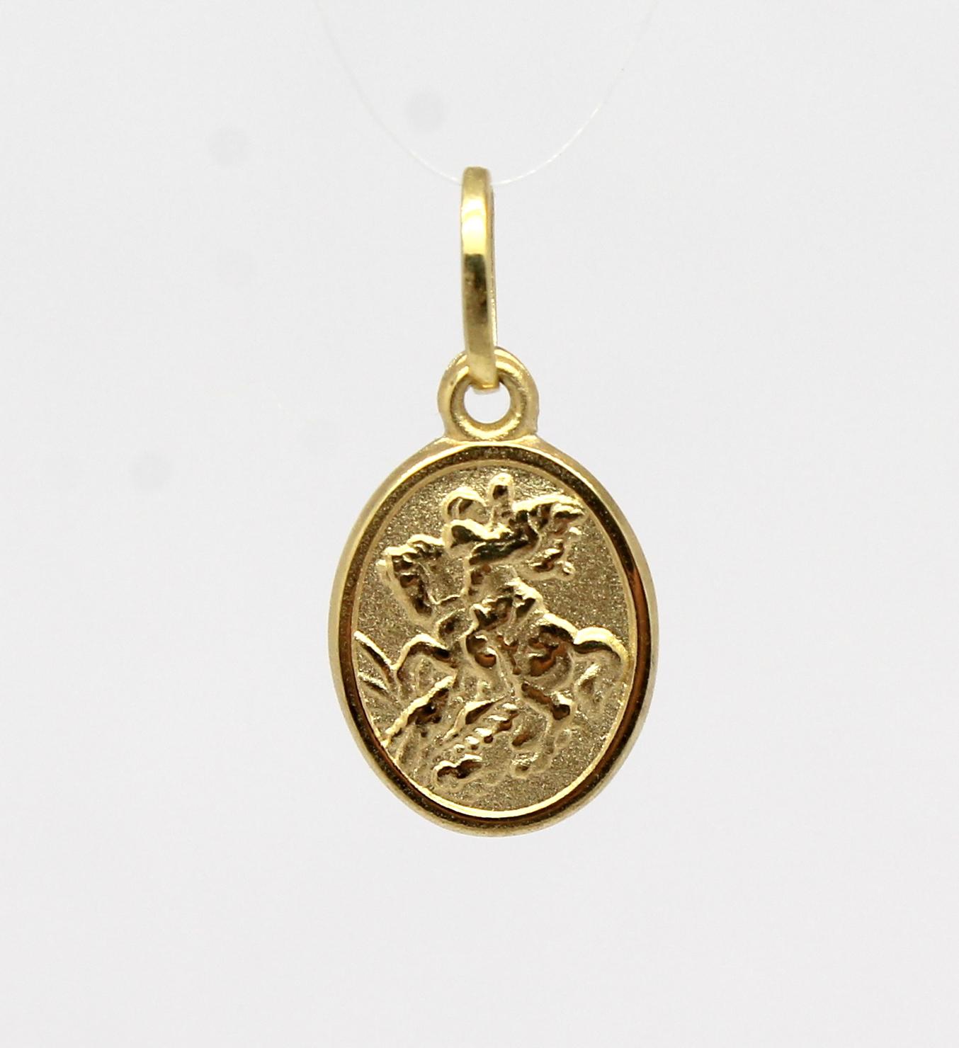 Pingente São Jorge Pequeno Ouro Amarelo 18k 750 - Marcio Joalheiros ... d8240a9db5