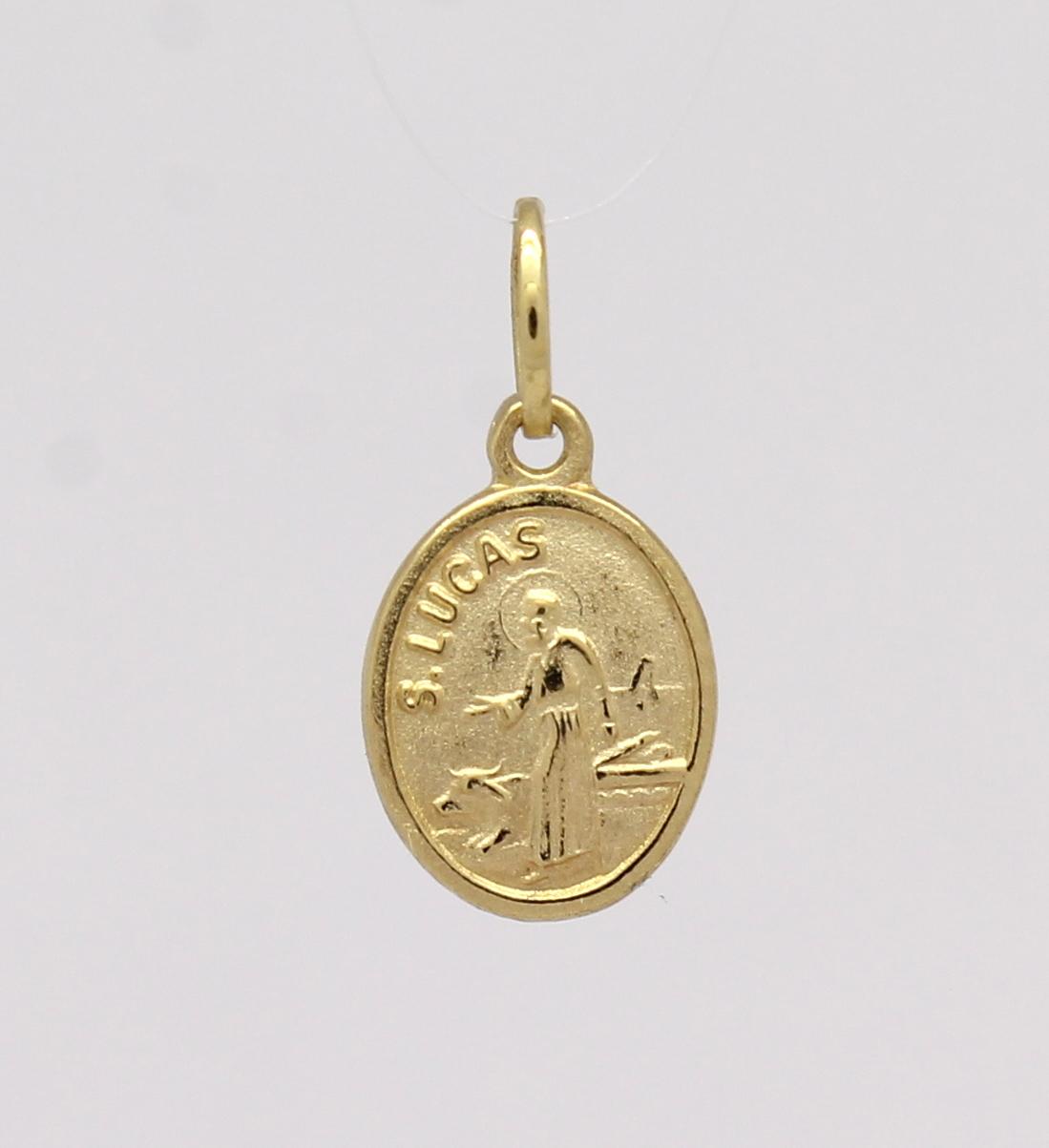619cde28d98a0 Pingente São Lucas Pequeno Ouro Amarelo 18k 750 - Marcio Joalheiros ...