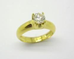 Anel Solitário 1ct Diamante Ouro Amarelo 18k 750 (7)