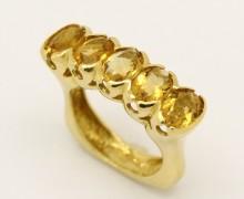 Anel Topázio Amarelo Ouro Amarelo 18k 750 (3)