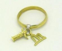 Anel de Falange Cristo Redentor e Pão de Açúcar Diamante Ouro Amarelo 18k 750 (2)