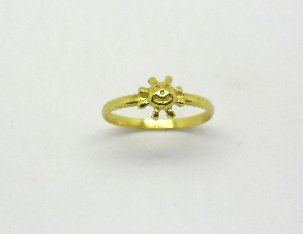 Anel de ouro polegar sol