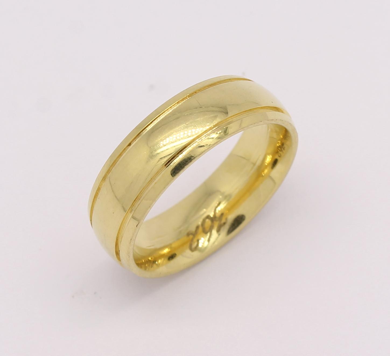 Par de Alianças Diamantes 16 gramas Ouro Amarelo 18k 750 - Marcio ... ed250876c1