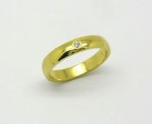 Par de Alianças 10 gramas Diamante Ouro Amarelo 18k 750