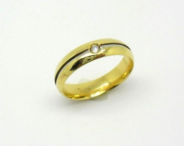 c5a53dcf7f53c Par de Alianças Diamante 14 gramas Ouro Amarelo e Ouro Branco 18k ...