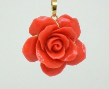 Pingente Flor Coral Ouro Amarelo 18k 750