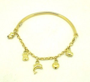 Pulseira Berloques Ouro Amarelo 18k 750