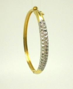 Pulseira Diamantes Ouro Amarelo e Ouro Branco 18k 750 - Marcio ... c0468a1cb2