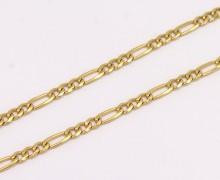 Corrente Elos 3x1 60 cm Ouro Amarelo 18k 750 (4)