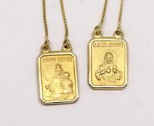 Escapulário Ouro Amarelo 18k 750 (1)