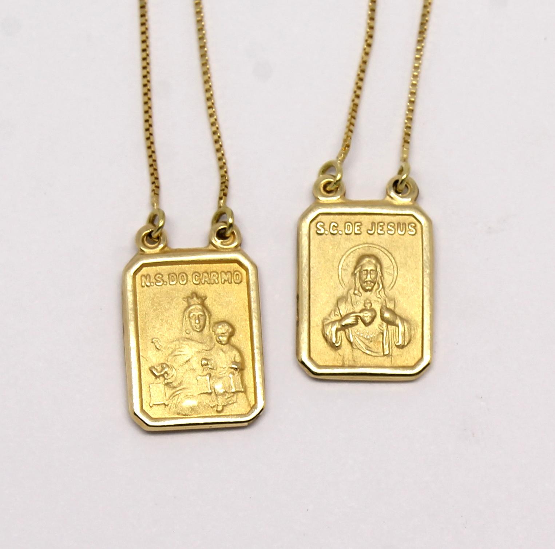 ade83d5c970d7 Escapulário Ouro Amarelo 18k 750 - Marcio Joalheiros   Marcio Joalheiros