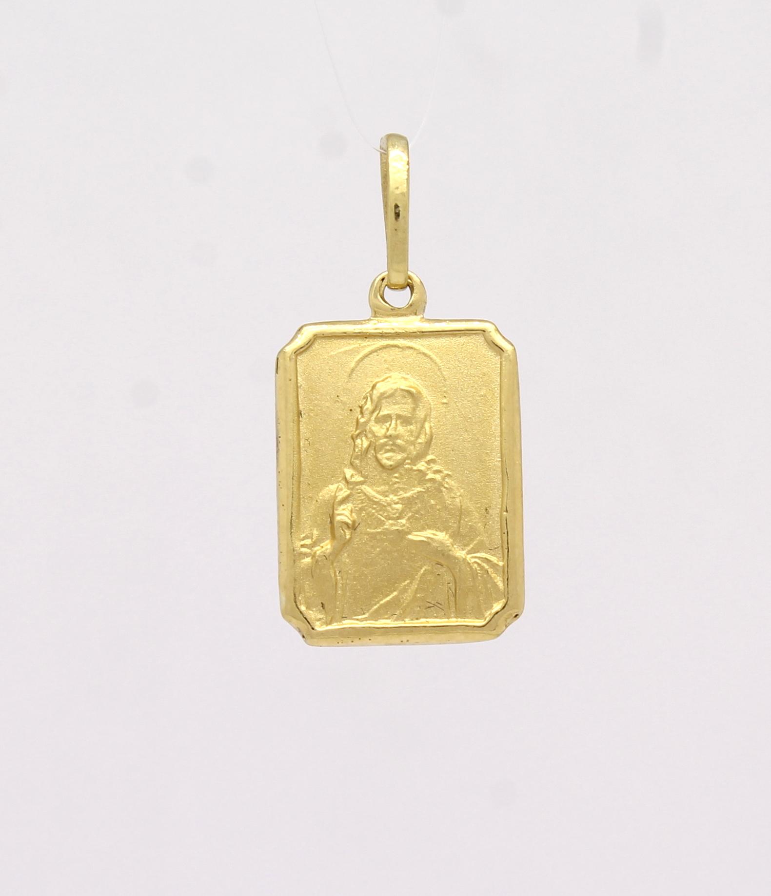 332820e2a5d72 Pingente Escapulário Ouro Amarelo 18k 750 - Marcio Joalheiros ...