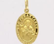 Pingente São Judas Tadeu Médio Ouro Amarelo 18k 750 (2)