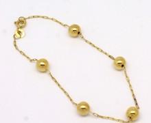 Pulseira de Bolinhas Feminina Ouro Amarelo 18k 750 (3)