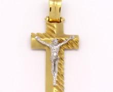 Crucifixo Ouro Amarelo e Ouro Branco 18k 750 (3)