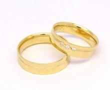 Alianças 10 gramas 5,5mm Zircônios Ouro Amarelo 18k 750 (5)