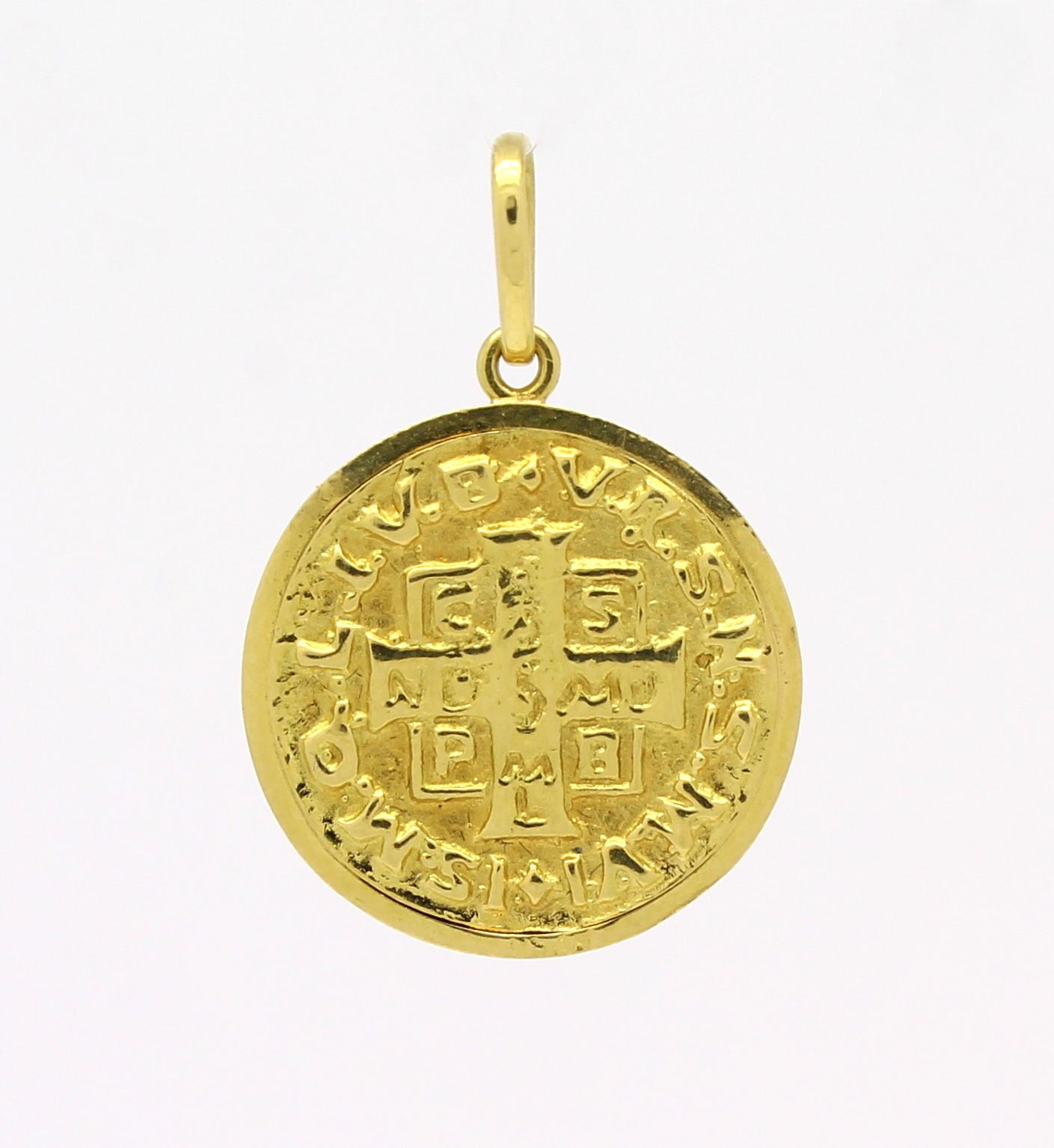ff95f750c01d1 Medalha de São Bento Ouro Amarelo 18k 750 - Marcio Joalheiros ...
