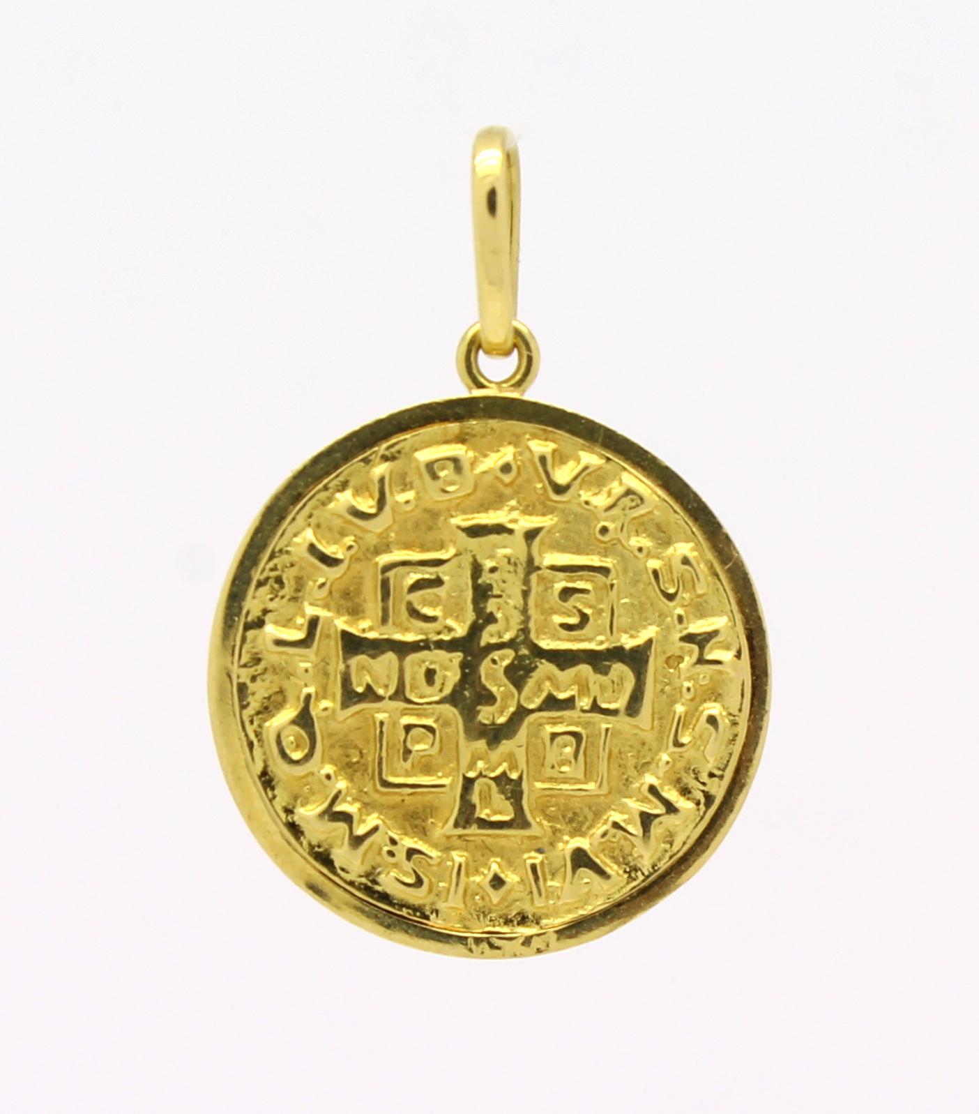 dbde0655f8181 Medalha de São Bento Ouro Amarelo 18k 750 - Marcio Joalheiros ...