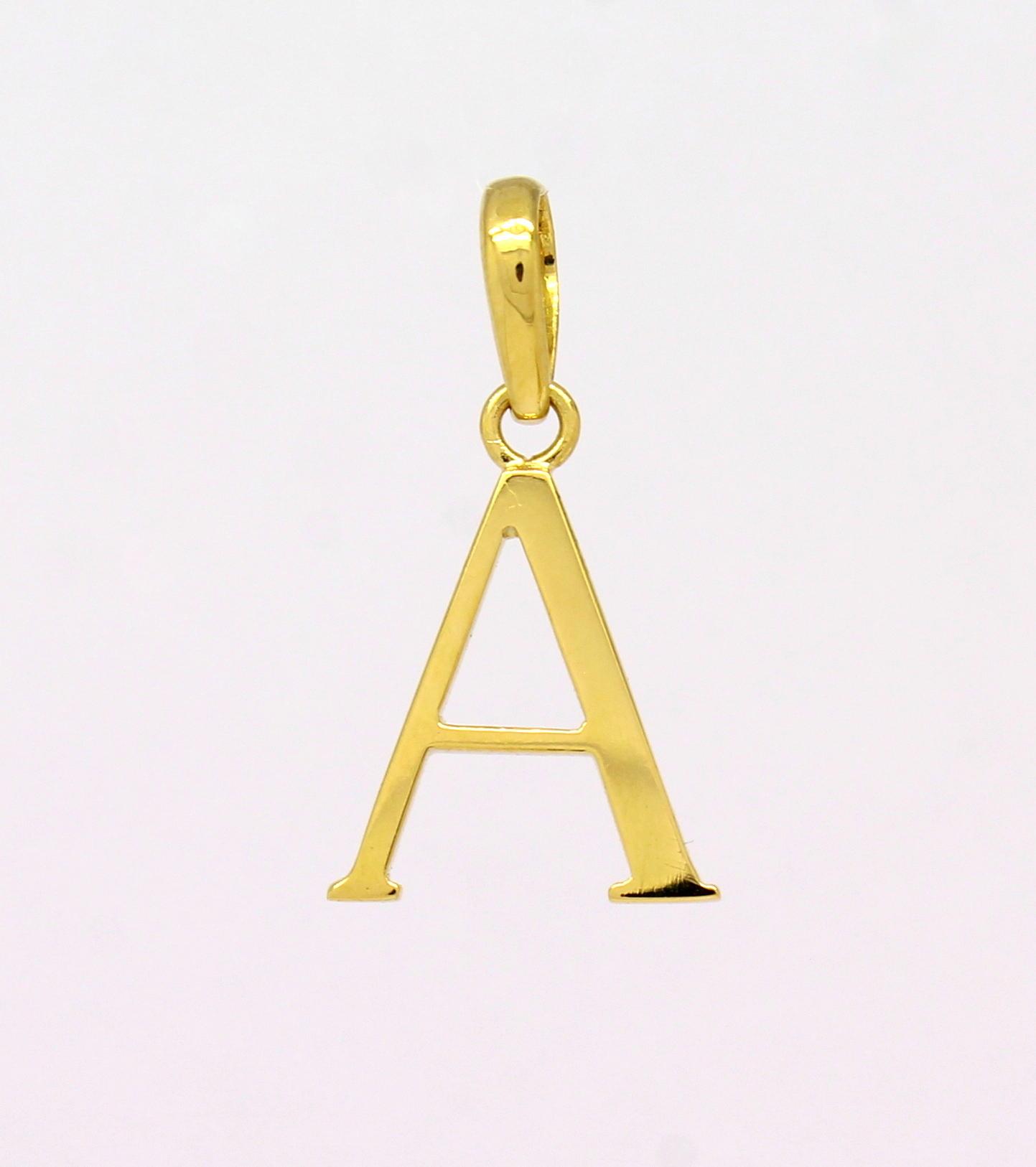 Pingente Letra Ouro Amarelo 18k 750 - Marcio Joalheiros   Marcio ... 9d29d4faee
