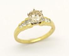 Anel Solitário Diamante 1,96 ct Ouro Amarelo 18k 750 (7)