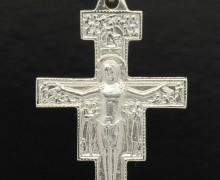 Crucifixo Bizantino de São Damião Prata 950 (2)