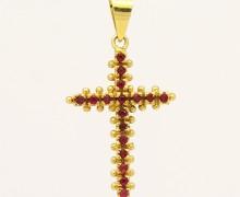 Cruz de Rubi Ouro 18k 750 (8)