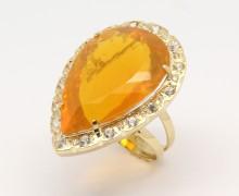 Anel Opala de Fogo e Diamantes Ouro 18k 750 (4)