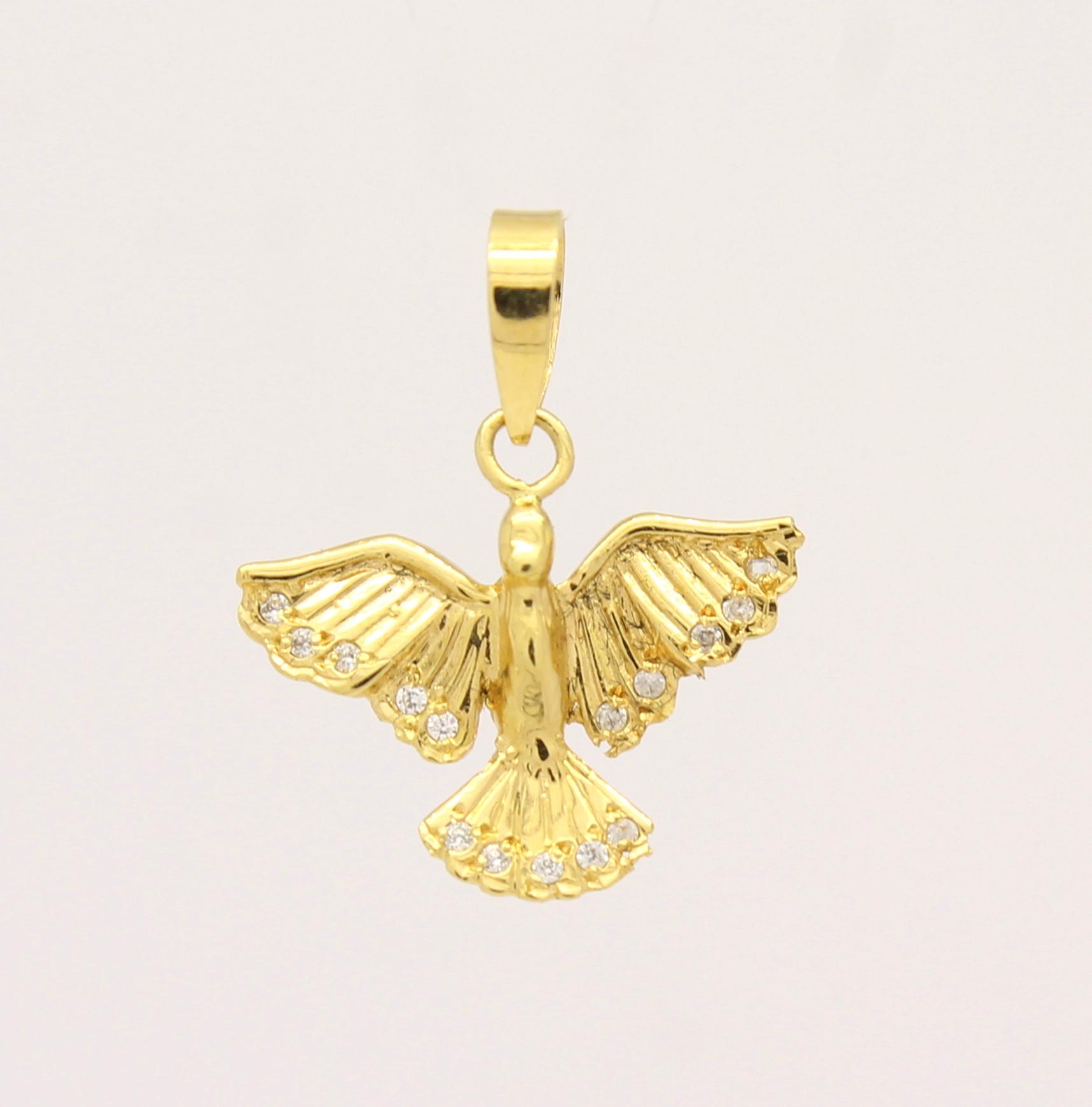 Pingente Divino Espírito Santo Zircônios Ouro 18k 750 - Marcio ... fc81cf148c