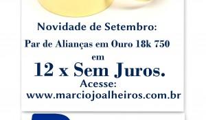 Alianças em 12x sem Juros - marciojoalheiros.com.br - maceio - paypal