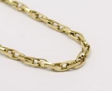 Corrente Elos Duplos 60 cm Ouro 18k 750  (4)