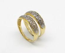 Par de Aparadores de Aliança Diamantado em Ouro 18k 750 (4)