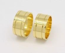 Par de Alianças 18 gramas 10mm Ouro 18k 750 (5)