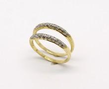 Par de Aparadores de Aliança Fino Diamantado em Ouro 18k 750 (4)